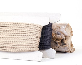 Natural Cotton / Macrame Cotton / Cord Macrame / Natural Cotton Rope / 4 mm / 25 m = 27.34 yards = 82 feet / 2 colours available