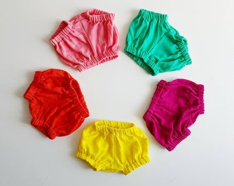 Baby Bloomers - Organic Shorts - Toddler Bubble Shorts - Gauze Bloomers - Organic Baby Shorts - Organic Bloomers - Toddler Bloomers