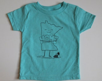 Turquoise Minnesota Home Infant/Toddler T-shirt