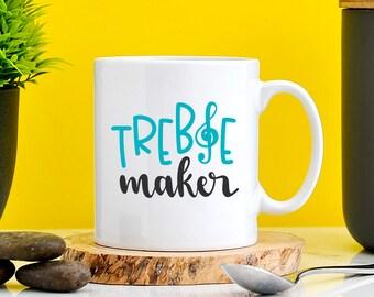Treble Maker Mug | Funny Musician Gifts | Composer Gifts | Music Gifts | Pianist Gifts | Music Teacher Gifts | Cute Present For Teacher