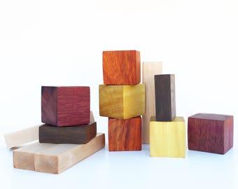 Handmade Chunky Rainbow Wood Blocks