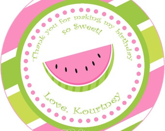 Watermelon Favor Tag, Thank You Tag, Summer Party Label, DIY Printable Party Favor, Summer Birthday Party, Picnic Favor Tag, Pool Party Tag