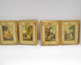Set Of Four Vintage Renaissance Prints #30024, Made In Italy (12)