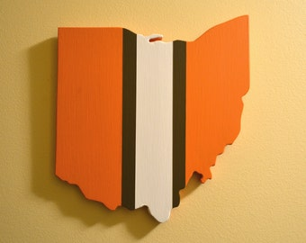 Cleveland Browns Wall Art - Handmade Wooden Browns Sign - Cleveland, Ohio