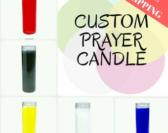 CUSTOM PRAYER CANDLE, intention candle, meditation candle