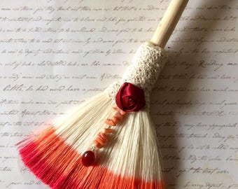 protection broom, altar broom , wiccan, witchy, pagan decor