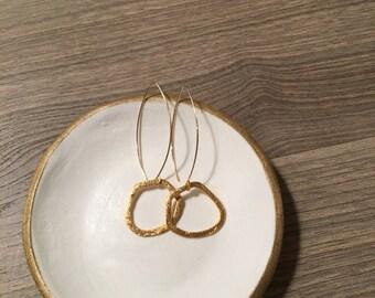 Gold vermeil irregular hoop