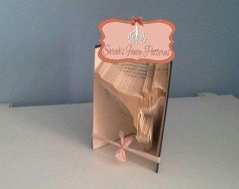 Half Price Sale - Ice Skater - Book Folding Pattern