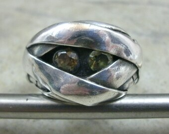 Silver Mummy Ring- Unique Wedding Ring- OOAK Engagement Ring- Fine Silver Band Ring- Artisan Jewelry- Under Wraps Jewelry- Mummy Monster