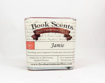 Jamie - Book Inspired Candle - Hand-poured, 10 oz coconut wax container candle