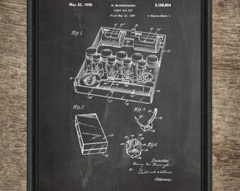 First Aid Kit Patent | First Aid Kit Poster | First Aid Kit Blueprint | First Aid Kit Artwork | First Aid Kit Instant Download