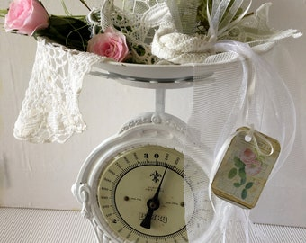 Plate Scale Antique Shabby