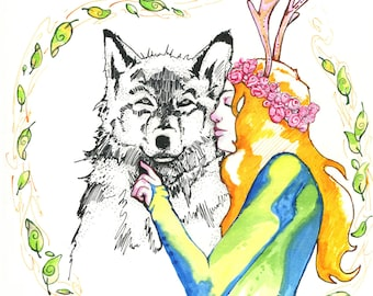 Wolf and Faun