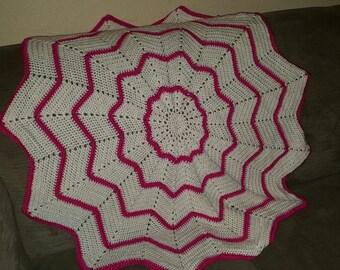 Handmade crocheted Baby Afghan