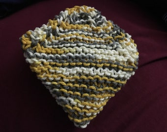 ONE knitted 100% cotton dishcloth/washcloth