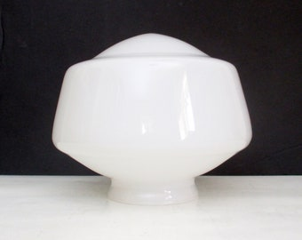 Vintage Milk Glass School House Light Globe Replacement Fitter Shade for a Mid Century Ceiling Fixture