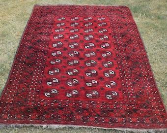 190 by 130 CM Antique Morey Bokhara Turkoman Carpet