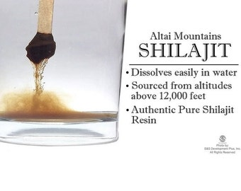 Authentic & Pure Shilajit Resin from Altai Mountains 100% pure, no fillers, or additives