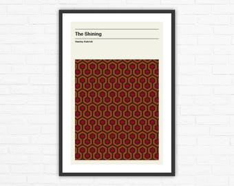 Stanley Kubrick, The Shining Carpet Minimalist Movie Poster