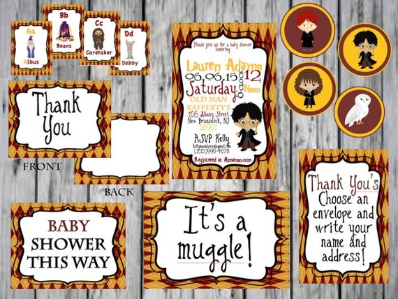 Harry Potter Baby Shower Package Harry Potter Cupcake Topper