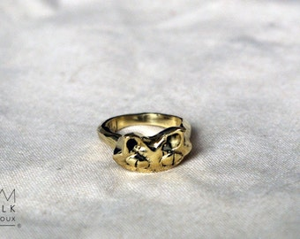 """Ring size 52 brass """"cat"""" 1/2"""