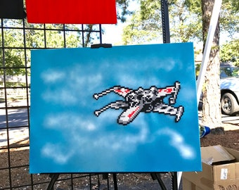 X-wing Assault painted canvas