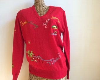 Excellent Palm springs vintage adee sweater 1960's