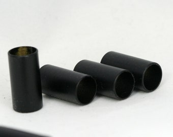 black painted Brass Tube 6 Pcs  10x20mm (hole 8,8mm ) Findings 1634