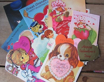Vintage Valentine Mixed Lot Used