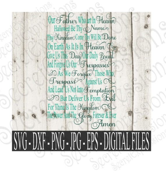 Lord S Prayer Svg Religious Sign Svg Prayer Svg