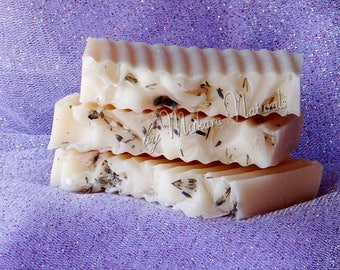 White Lavender Bath Soap, Cold Process Soap, Natural, Handmade,  Luxurious Lather,  Made in Kansas, Essential Oils, Lye Soap, gifts, mom