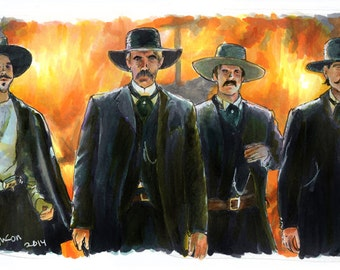 Tombstone - The OK Corral  Poster Print