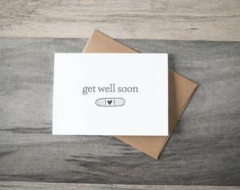 Get Well Soon Card - bandaid