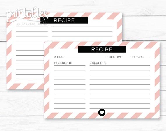printable recipe card template