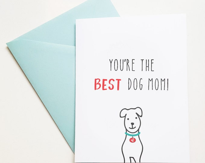Dog Card For Mom Happy Birthday