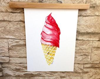 Print • ice cream cone •