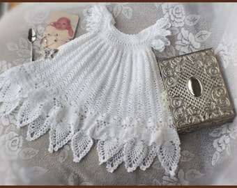 Celestial Christening Gown Crochet Pattern Sizes Newborn, 3 mos, 6 mos, 9 mos, 12 mos