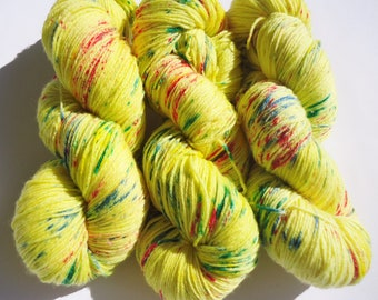 Fine Merino Socks hand dyed yarn hand painted sock yarn speckled: cloud no 4