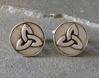 Celtic Knot Cufflinks, Celtic Inspired Cufflinks, Celtic Gifts for Men, Irish Gift for Grooms, Gaelic Mens Jewelry, Celtic Wedding Cufflinks