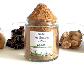 Café des Épices/Moroccan Coffee/Coffee Spice/Spice Rack/Coffee Lover/Foodie Gift/Seasonings Gifts/Cooking Gift/Chef Gift