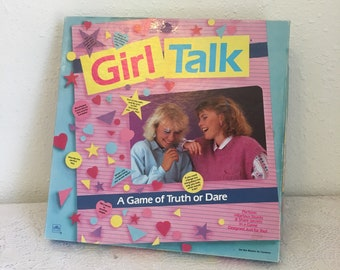 GIRL TALK truth or dare game, vintage board game, vintage 80s game, sleepover game