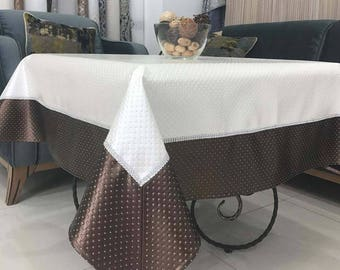 stylish tablecloth of eco-leather\table setting\anti vandal\valentines day decor\home decor\crystal\exclusive gift\tablecloth\napkins