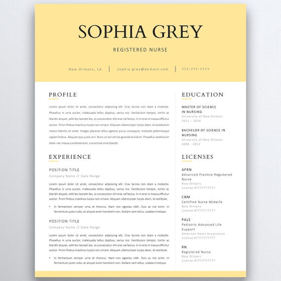 Nursing Resume Template  Pages Nurse Cv Template