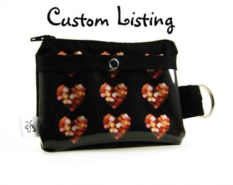 Custom Listing for Rhododendrons3--Zippered Keychain Wallet