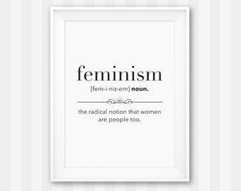 Feminist Print / Feminist Wall Art / Feminism Poster / Feminist Poster / Feminist Art / Feminist Gift / Feminism Print / Feminist Decor