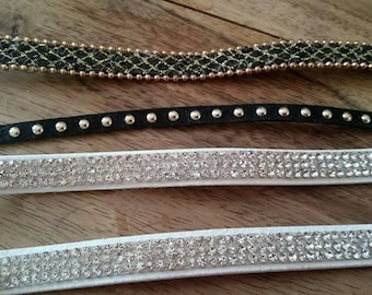 set of 4 Brown to make bracelets