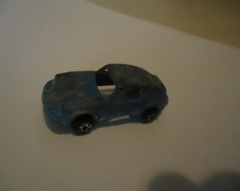 Vintage Tootsietoy Metal Blue Toy Race Car, collectable, USA