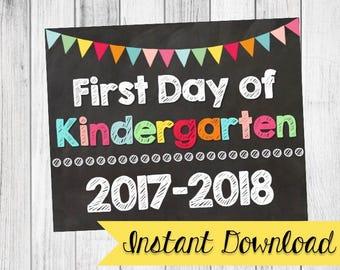 First Day of School Signs / Daycare, Toddler, Preschool, Kindergarten, First, Second, Third, Fourth, Fifth Grade {Instant DigitalDownload}