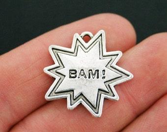 2 BAM Charms Antique Silver Tone - SC5396