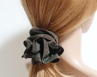 Suede Trim Solid Color Hair Scrunchies Women Hair Elastics Hair Ties Accessories